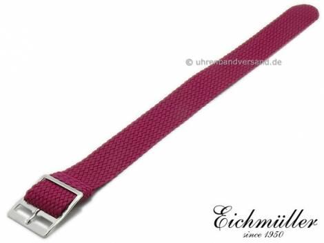 Uhrenarmband 18mm violett Perlon/Textil Durchzugsband von EICHMÜLLER - Bild vergrößern