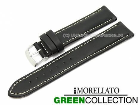 Uhrenarmband 22mm schwarz -Castagno- helle Naht von MORELLATO (Schließenanstoß 20 mm) - Bild vergrößern