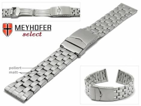 Uhrenarmband -Krems- 20mm Edelstahl gefaltet teilweise poliert von MEYHOFER - Bild vergrößern