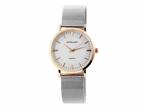 Armbanduhr klassisch Metall roségoldfarben Ziffernblatt hell (*SH*AU*) - Bild vergrößern