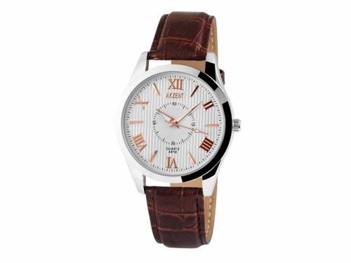 Armbanduhr klassisch Metall silberfarben Ziffernblatt weiß (*SH*AU*) - Bild vergrößern