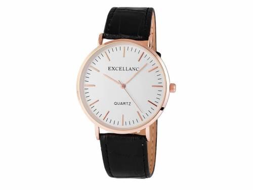 Armbanduhr klassisch Metall roségoldfarben Ziffernblatt silberfarben (*SH*AU*) - Bild vergrößern