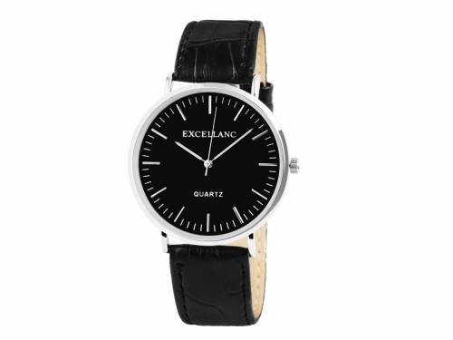 Armbanduhr klassisch Metall silberfarben Ziffernblatt schwarz (*SH*AU*) - Bild vergrößern
