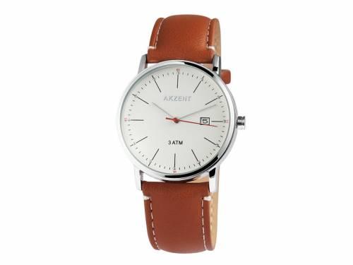 Armbanduhr klassisch Metall silberfarben Ziffernblatt creme (*SH*AU*) - Bild vergrößern