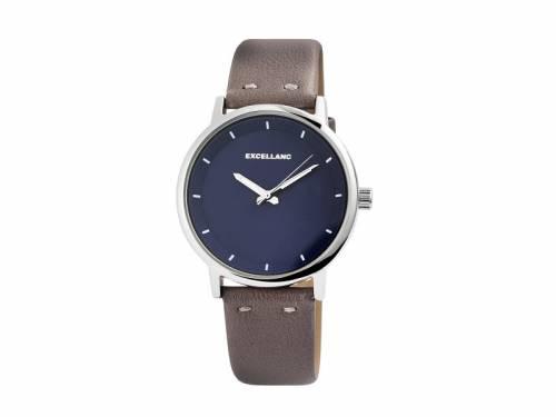 Armbanduhr klassisch Metall silberfarben Ziffernblatt dunkelblau (*SH*AU*) - Bild vergrößern
