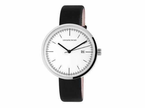 Armbanduhr klassisch Metall silberfarben Ziffernblatt weiß von LEONARDO VERELLI (*LV*AU*) - Bild vergrößern