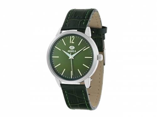 Armbanduhr klassisch Metall silberfarben Ziffernblatt grün von Marea (*MR*AU*) - Bild vergrößern