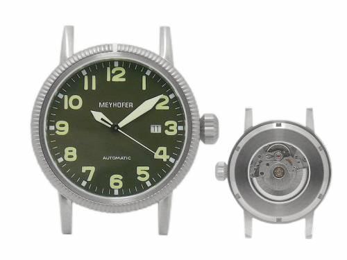 1 Exklusive Automatikuhr -Oranienburg- Ziffernblatt schwarz ohne Uhrband von Meyhofer - MADE IN GERMANY (*MY*HU*) - Bild vergrößern