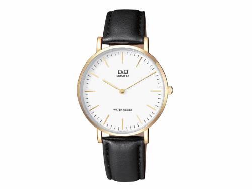 Armbanduhr Metall goldfarben Ziffernblatt weiß von Q&Q (*QQ*AU*) - Bild vergrößern