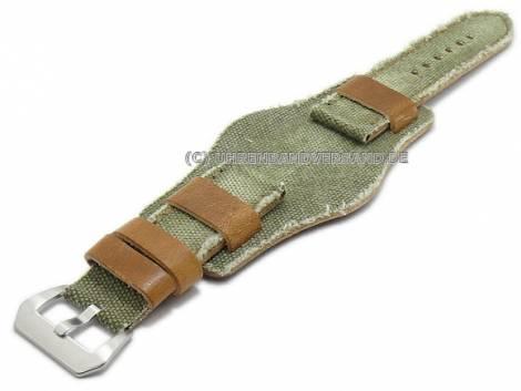 Rustikale Uhrenarmbänder im Vintage-Look aus Leder/Textil in diversen Ausführungen aus der Rock!t Kollektion - Bild vergrößern