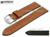 Uhrenarmband Paul 18mm hellbraun Leder/Kautschuk Alligator-Prägung abgenäht von HIRSCH (Schließenanstoß 16 mm)