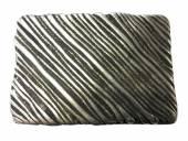Gürtelschließe Metall altsilberfarben Stripes-Motiv passend für Gürtelbreite 40 mm