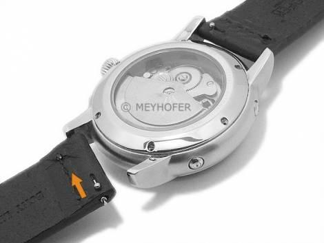 Meyhofer EASY-CLICK Uhrenarmband XL -Sequoia- 24mm hellbraun Leder Antik-Look helle Naht (Schließenanstoß 24 mm) - Bild vergrößern