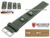 Uhrenarmband Gotha 14-16-18-20mm Wechselanstoß dunkelgrün Leder Antik-Look helle Naht Unterlagenband von Meyhofer