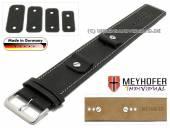 Uhrenarmband Gotha 14-16-18-20mm Wechselanstoß schwarz Leder Antik-Look helle Naht Unterlagenband von Meyhofer