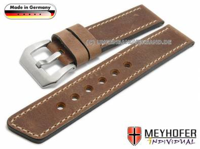 MyRustico-01: rustikale Uhrenarmbänder von Meyhofer in robuster Ausführung MADE IN GERMANY - Bild vergrößern