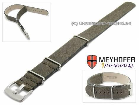 NATO-Uhrenarmband -Mendavia- Antik -Look von MEYHOFER - Bild vergrößern