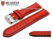 Uhrenarmband Paracatu 18mm rot Leder glatt schwarze Naht von Meyhofer (Schließenanstoß 16 mm)