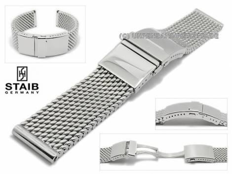 STAIB Milanaise-Uhrenarmbänder aus Edelstahl in diversen Ausführungen - Bild vergrößern