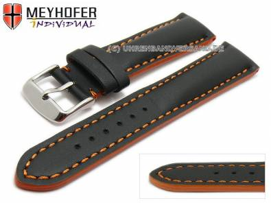 Multicolor Uhrenbänder -Paracatu- sportiv Leder mit farbigen Kontrastnähten von MEYHOFER - Bild vergrößern