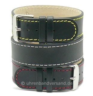 Durchzugsband \-Prag\- farbige Kontrastnähte Leder klassisches Design von MEYHOFER