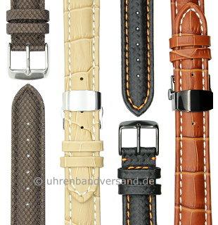 MyClassico-05: Meyhofer-Uhrenarmbänder in vielseitigen Ausführungen auch mit Faltschließe