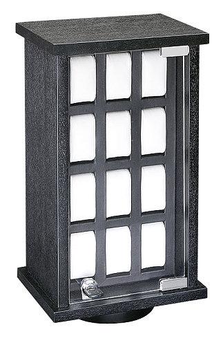 holz uhrenvitrine schwarz f r bis zu 24 uhren mit. Black Bedroom Furniture Sets. Home Design Ideas