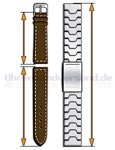 Länge der Uhrenarmbänder