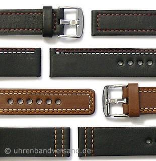 Design-Uhrenarmbänder von PATTINI aus Leder in diversen Ausführungen