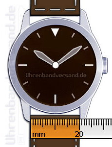 Bestimmung der richtigen Uhrenarmband-Breite (Stegbreite)