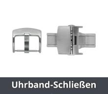 Ersatzarmband Echtleder 14 mm /& 16 mm Dornschließe Goldfarben genäht Neu