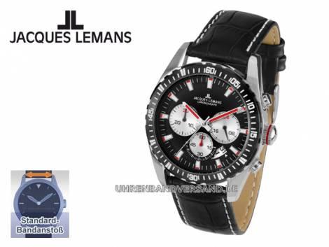 Sportiver Chronograph Ziffernblatt schwarz von Jacques Lemans (*JL*HU*) - Bild vergrößern
