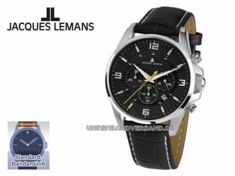 Damen-Chronograph sportives Design Ziffernblatt schwarz von Jacques Lemans (*JL*DU*) - Bild vergrößern