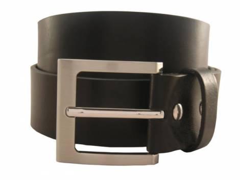 Gürtel Vollrindleder schwarz glatt - Bundlänge 100cm (Breite 4cm) - Bild vergrößern