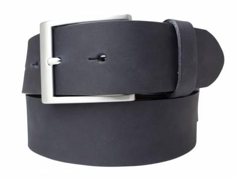 Gürtel Vollrindleder schwarz glatt matt Vintage-Look - Bundlänge 90cm (Breite 4cm) - Bild vergrößern