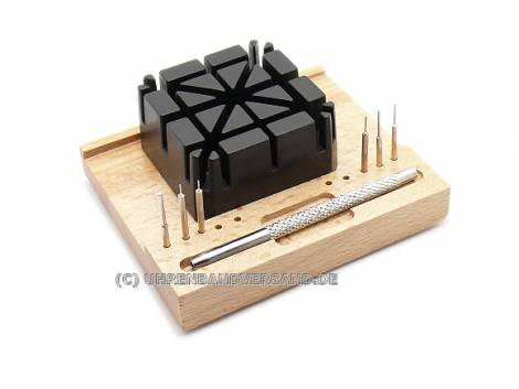 Stiftausschläger-Set groß zum Kürzen von Metallbändern - Bild vergrößern