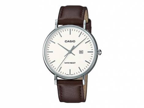 Damenuhr LTH-1060L-7AER Ziffernblatt weiß mit Lederband von Casio (*CA*DU*) - Bild vergrößern