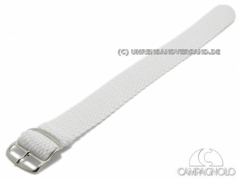 Uhrenarmband 18mm weiß Perlon/Textil Durchzugsband von CAMPAGNOLO - Bild vergrößern