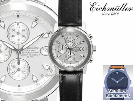 Sportiver Chronograph Edelstahl Ziffernblatt silber von Eichmüller (*EM*HU*) - Bild vergrößern