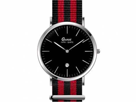 Armbanduhr Edelstahl poliert Ziffernblatt schwarz von Gardé Ruhla (*GD*HU*) - Bild vergrößern