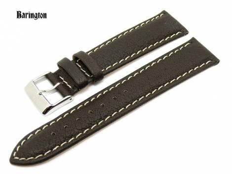 Uhrenarmband 18mm dunkelbraun Barington -Wasserbüffel- (Schließenanstoß 16 mm) - Bild vergrößern