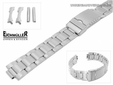 Uhrenarmband 20mm Edelstahl matt B-Ware - Bild vergrößern