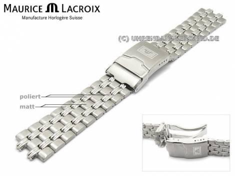 Uhrenarmband Original Ersatzband MAURICE LACROIX 20mm Edelstahl massiv für Modell 04724 - Bild vergrößern