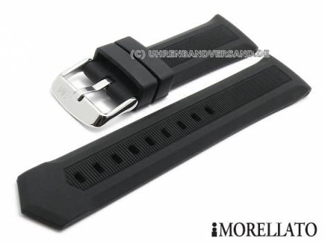 Uhrenarmband -Acre- 20mm schwarz Silikon mit Struktur matt von MORELLATO (Schließenanstoß 18 mm) - Bild vergrößern