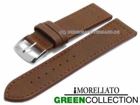 Uhrenarmband -Ginepro- 18mm mittelbraun Synthetik matt abgenäht GREEN COLLECTION von MORELLATO (Schließenanstoß 16 mm) - Bild vergrößern