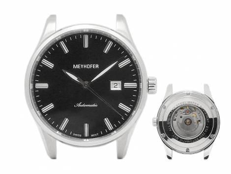 Exklusive Automatik-Herrenuhr -Wandlitz- Ziffernblatt schwarz ohne Uhrenarmband von Meyhofer - MADE IN GERMANY (*MY*HU*) - Bild vergrößern