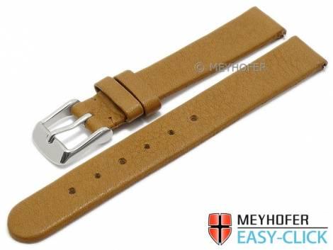 Meyhofer EASY-CLICK Uhrenarmband -Albany- 14mm hellbraun Leder vegetabil ohne Naht (Schließenanstoß 14 mm) - Bild vergrößern