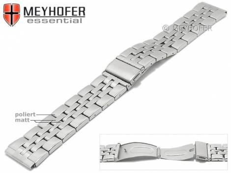 Uhrenarmband -Bellingham- 20mm Edelstahl gefaltet Massiv-Look teilweise poliert von MEYHOFER - Bild vergrößern