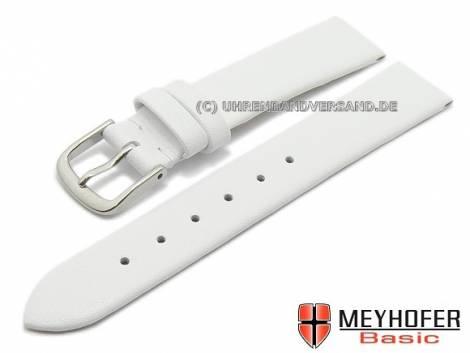 MEYHOFER Basic Uhrenarmband XS -Tallinn- 20mm weiß Leder glatt matt (Schließenanstoß 18 mm) - Bild vergrößern
