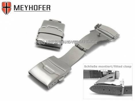 Sicherheitsfaltschließe -Pankow- 18mm Titan gebürstet mit seitlichen Drückern - Bild vergrößern